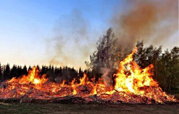 Pożar odpadów
